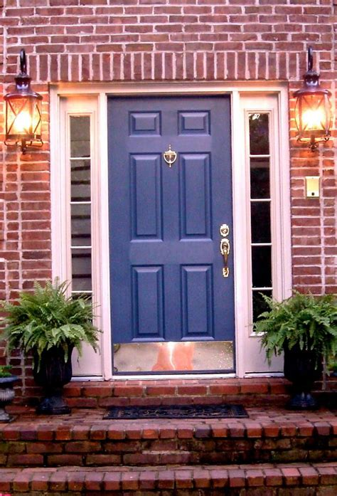 Colors For Front Doors For Houses Brick House Door Colors Door I This Color Blue And Here S Some Other Blue Front