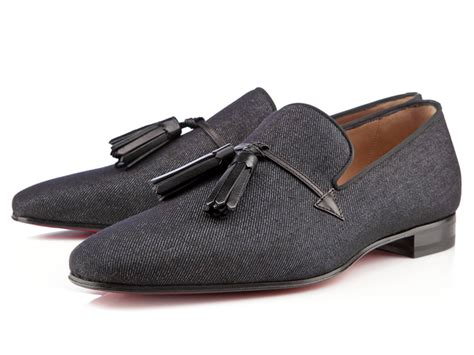 mens flat loafers 9 mens flat denim tasseled loafers dress shoes