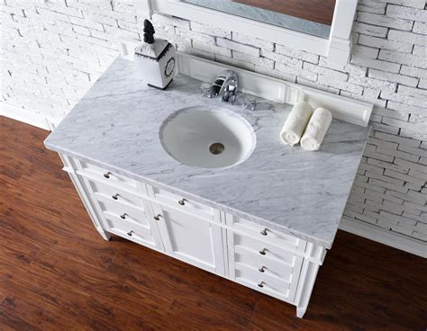 48 Inch Bathroom Vanity With Top Contemporary 48 Inch Single Bathroom Vanity White Finish No Top