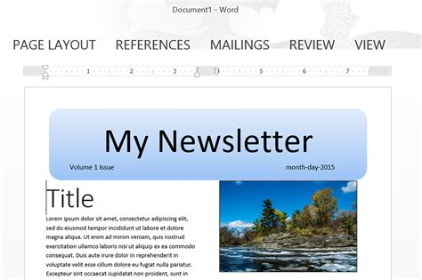 How To Make A Newsletter Template In Word Techwalla Com Make A Newsletter Template