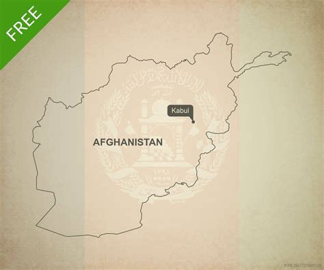 Afghanistan Country Map Outline by Free Vector Map Of Afghanistan Outline One Stop Map