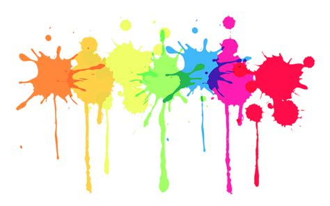 multicolour paint splatter transparent png stickpng