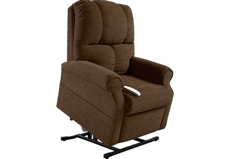 recliners and more baytown chocolate lift chair recliner recliners brown