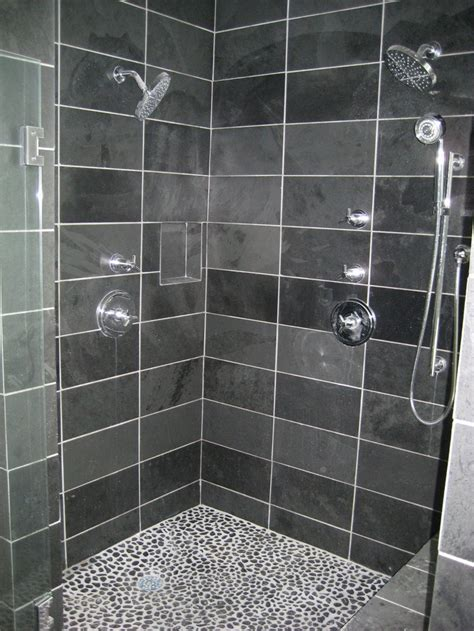 grey pebble tiles bathroom tiles interesting slate tile shower floor using slate