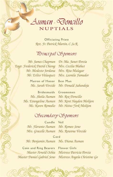 wedding entourage list template wedding invitation templates in philippines wedding