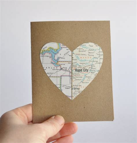 valentines day ideas for distance couples distance relationship card map in two places