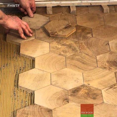 Fitting Hexagon Wood Tiles floors   hexagon parquet floor