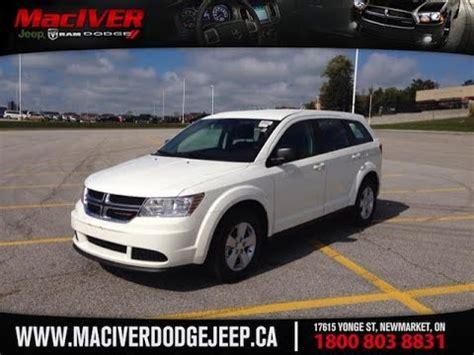 dodge jeep white 2015 white dodge journey cvp newmarket ontario maciver