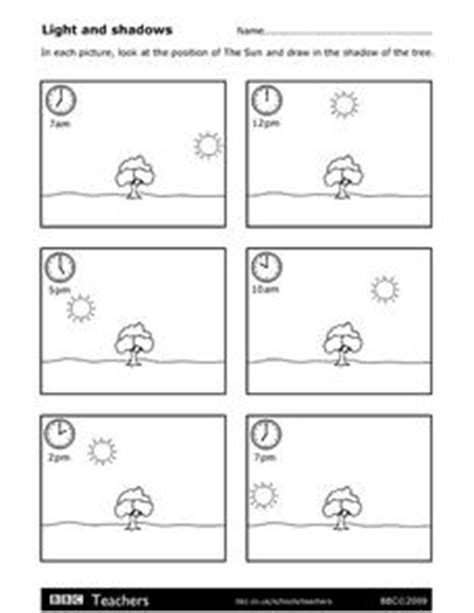 light and shadows lesson plans light and shadows worksheet for 3rd 4th grade lesson
