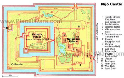 japanese castle floor plan kyoto travel guide area by area nijo castle youinjapan net
