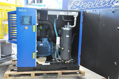 brand new quincy rotary air compressor with sound enclosure sterling machinery