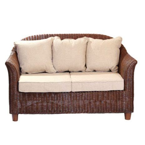 alcester brown rattan  seater conservatory sofa rattan
