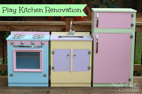 play kitchen quot renovation quot kitchen renovation diy plays link party whimsy wednesday