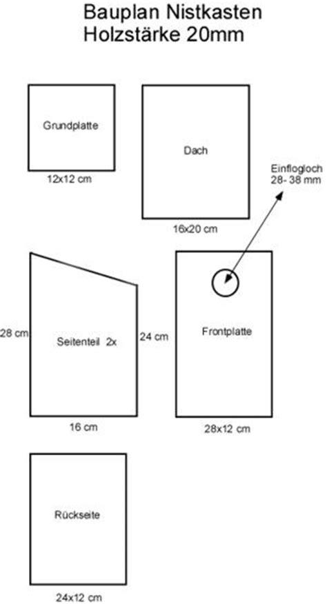 Nistkasten Bauanleitung Kostenlos 6221 by Bauanleitung Nistkasten Bauplan Holzbeton Rotkehlchen F 252 R