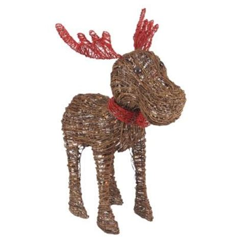 target outdoor decorations rattan moose and figurine on