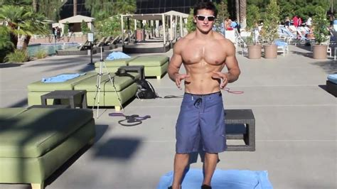 arm poppin 6 pack abs pool workout