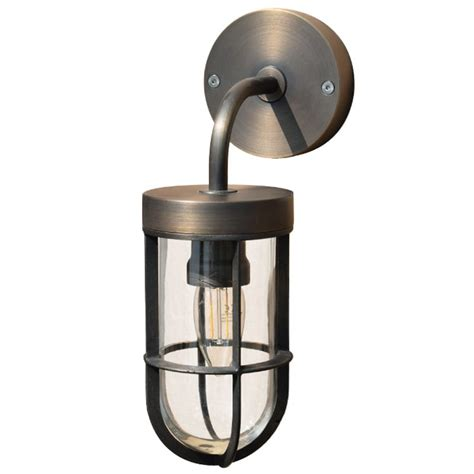fisherman solid brass outdoor wall light rustic bronze