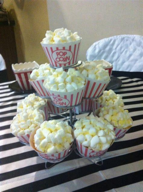 popcorn cupcakes centerpiece 4th of july sparkle
