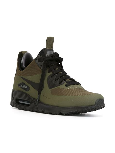 Nike Free 90 nike air max 90 mid winter sneaker boots in green for