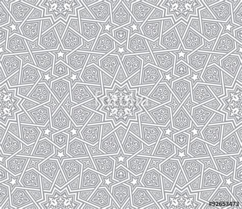Paper Flower Paket 13 Bunga 2 quot islamic ornament grey vector background quot stok g 246 rseller