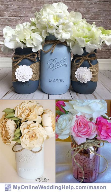 19 Mason Jar Centerpiece Ideas for Weddings   Mason Jar