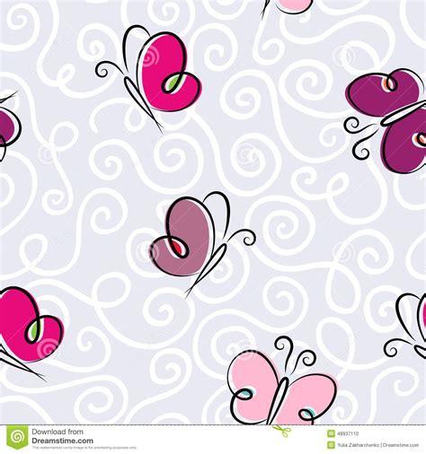 gordijnstof vlinders naadloos behang met vlinders vector illustratie