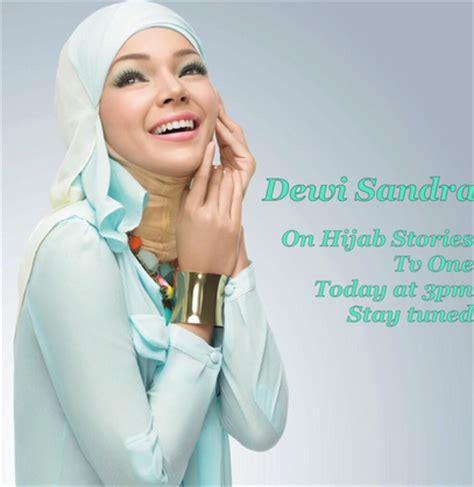 tutorial make up wardah dewi sandra trend model hijab modern ala dewi sandra new tutorial hijab