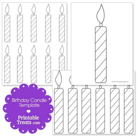 Candle Card Template by Printable Birthday Candle Shape Template Preschool