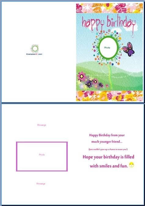 creat a bday card template birthday card template word sadamatsu hp