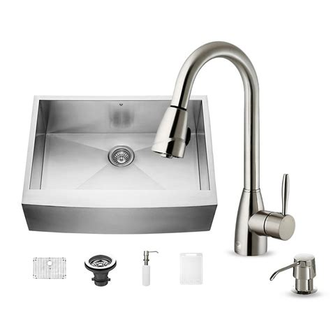 All In One Kitchen Sink Vigo All In One Undermount Stainless Steel 30 In Single Basin Kitchen Sink In Stainless