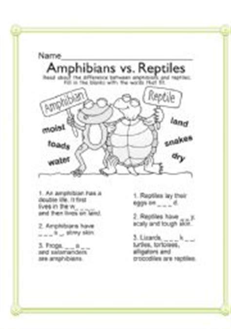 Hibians Worksheet by Worksheet Hibians Vs Reptiles