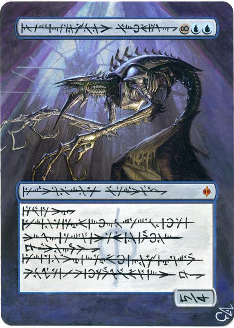 how to make mtg cards mtg altered card jin gitaxias augur by ghostarm1911