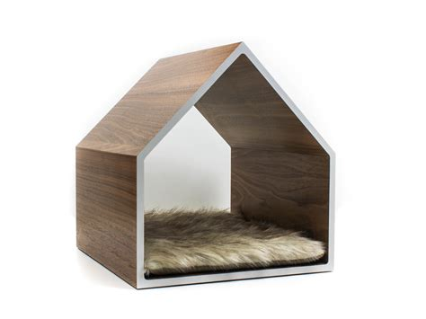 dog pet house modern pet house cat house small dog house walnut
