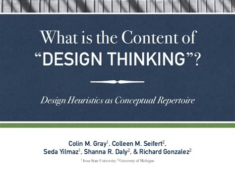 design heuristics meaning what is the content of design thinking design