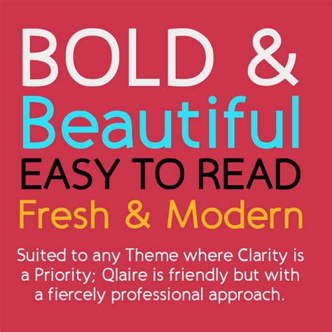 qlaire clean modern fresh font family by joiaco