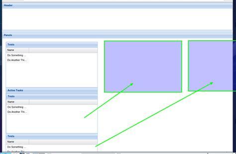 extjs border layout height extjs4 extjs fluid panels stack overflow