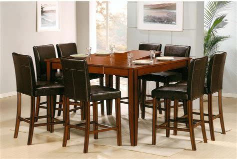 Pub Table Dining Set Counter Height Square Pub Table Classic Wood Dining Furniture Set With Parsons Chairs 4665