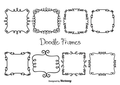 how to create a free doodle set of doodle frames vector free
