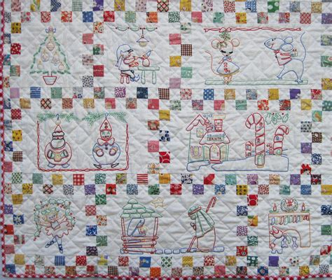Embroidery Quilt Patterns by Santa S Follow The Colors Embroidered Quilt Finished Q