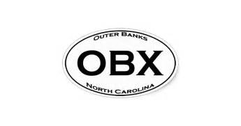 outer banks obx outer banks nc euro style oval logo oval sticker