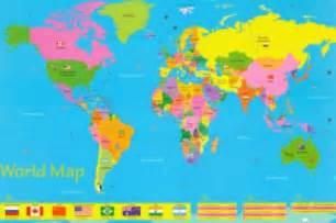 world map printable for kids
