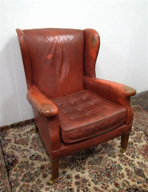 shabby chic armchair antiques atlas shabby chic leather wing armchair