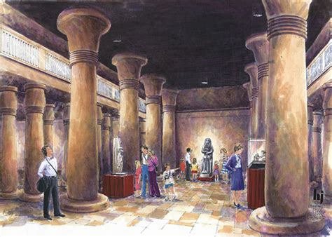 Ancient Interior by Architectural Illustration Rendering Architectural