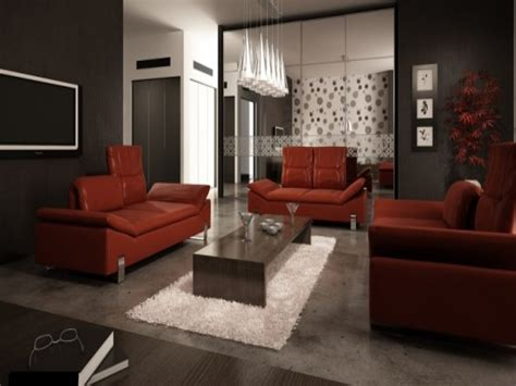 living room with red couch pictures how to decorate with a red leather sofa sofa menzilperde net