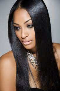 Pics photos long straight black weave hairstyles with bangs