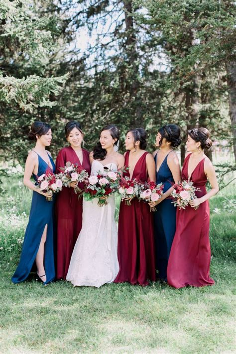 Marisa Maxy Maroon Navy 17 best ideas about fall wedding bridesmaids on