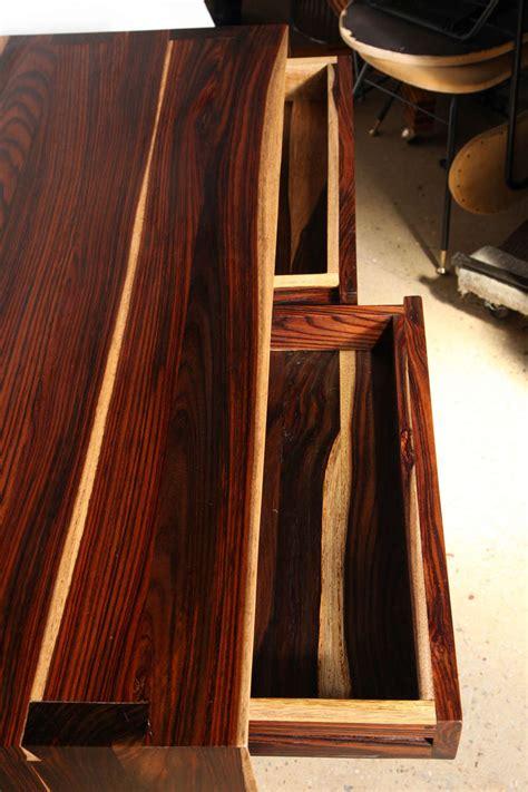 cocobolo desk for sale craft revival hand crafted cocobolo wood desk at 1stdibs