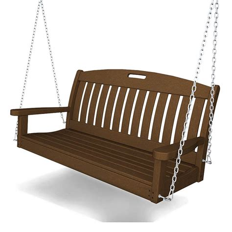 porch bench swing outdoor hanging swing bench for porch garden patio maintenance free recyled