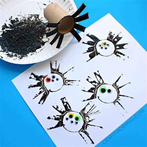 Toilet Paper Crafts For Preschoolers - two toilet paper roll spider crafts for toilet