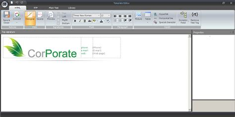 fancy email templates usingtemplate editor s status bar to work easily with